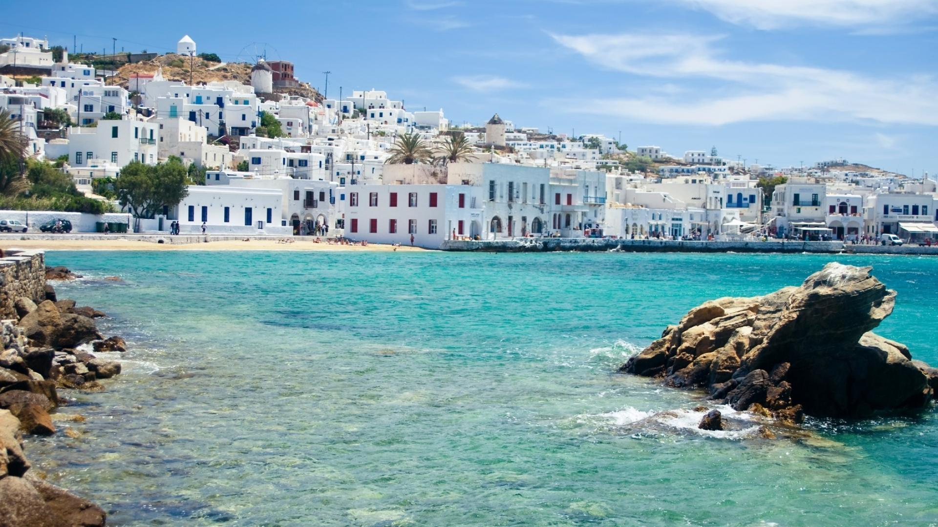 holiday to greek islands, mykonos